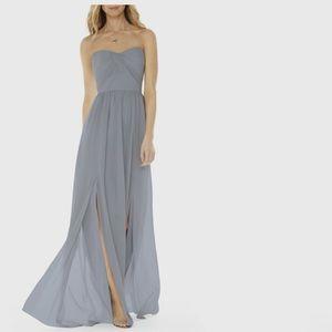 Strapless Gorgette Gown